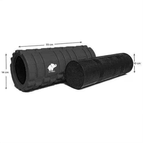 A-FTNSS Foam Roller Black Dimensions