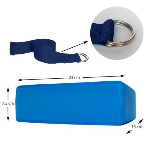 A-FTNSS Yoga Belt Blue