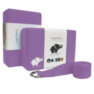 Yoga Blocks and strap purple