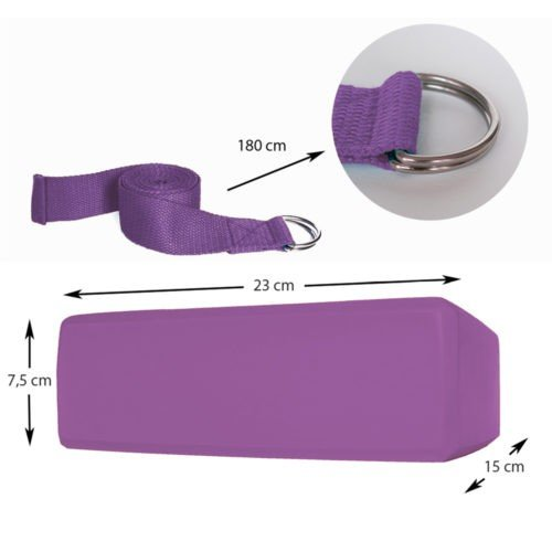 Yoga Block Purple dimensions
