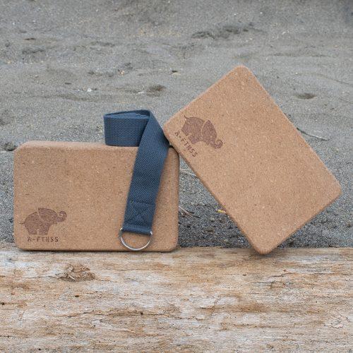 Yoga Block cork set sand