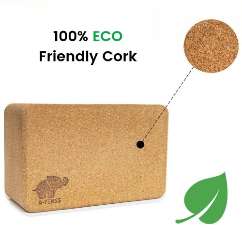 Environment friendly cork yoga block