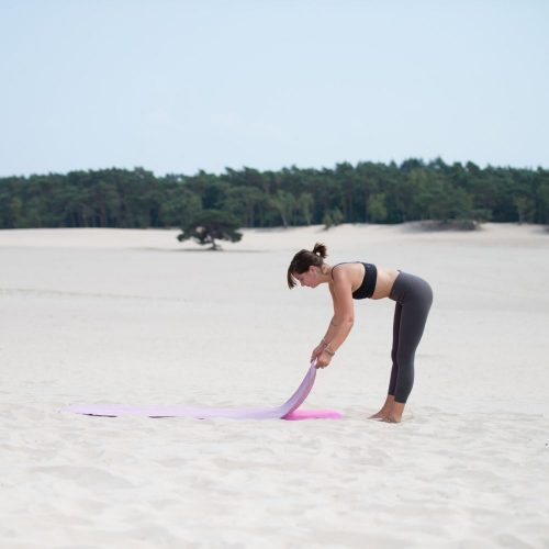 Tunturi Non-Slip Towel pink in sand