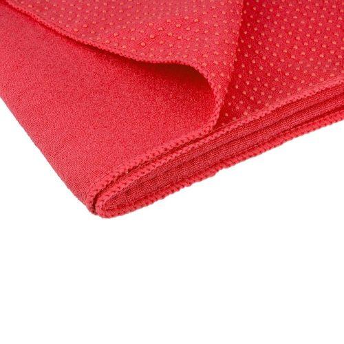 Avento Yoga Towel Antiskid Pink folden