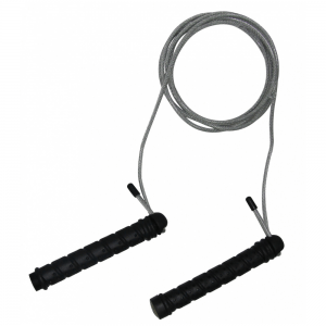 Tunturi Skipping Rope Steel 280 cm Black/Gray