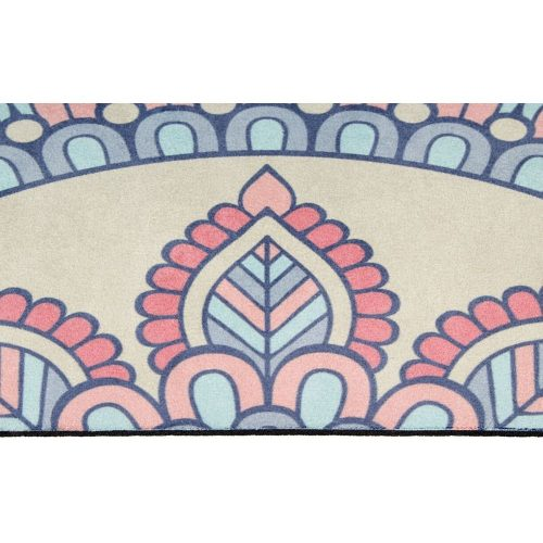 Avento Suede Yoga Mat With Print Beige/Pink/Blue close up