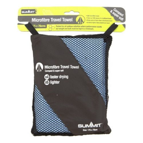 Summit Microfiber Towel Blue package