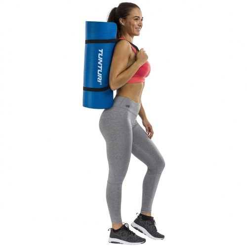 Tunturi Fitness Mat With Carrying Bag Blue carrying bag