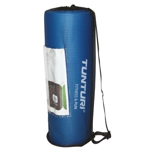 Tunturi Fitness Mat With Carrying Bag Blue bag