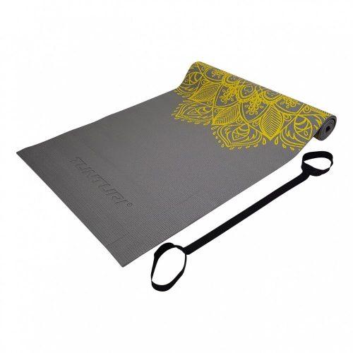 Tunturi Fitness Mat PVC 4 mm Yellow/Gray Print