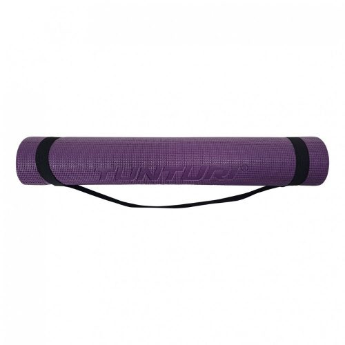 Tunturi Fitness Mat PVC 4 mm Purple Carrying strap