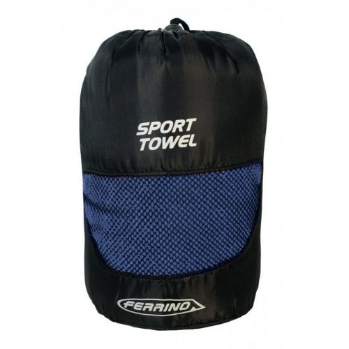 Ferrino sports towel blue bag