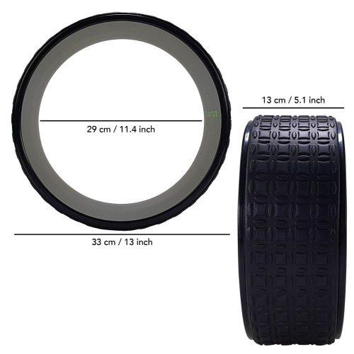 Tunturi Yoga Wheel 33 cm Black dimensions