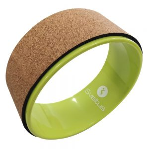 Sveltus Yoga Wheel Cork Green 32 cm