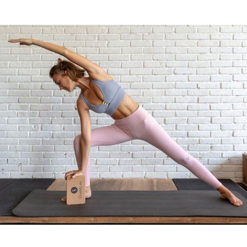 Sveltus Yoga Block Cork 22x14x7 yoga pose