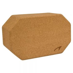 Avento Yoga Block Cork Brown 23x14x9.5 cm