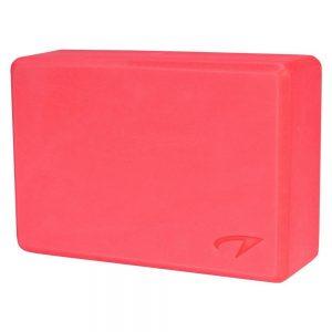 Avento yoga block pink 23 x 15 x 8 cm